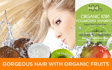 gorgeous hair products with organic fruits