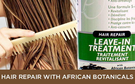 hair repair products with african botanicals