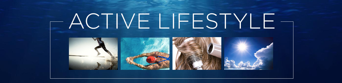 Active lifestyle hair products