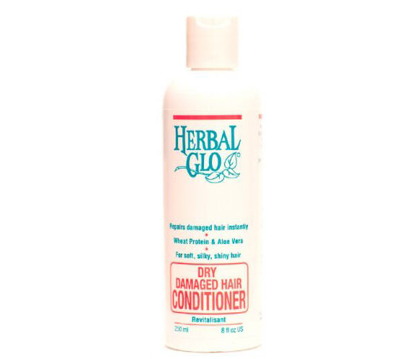 bottle of dry and damaged hair conditioner