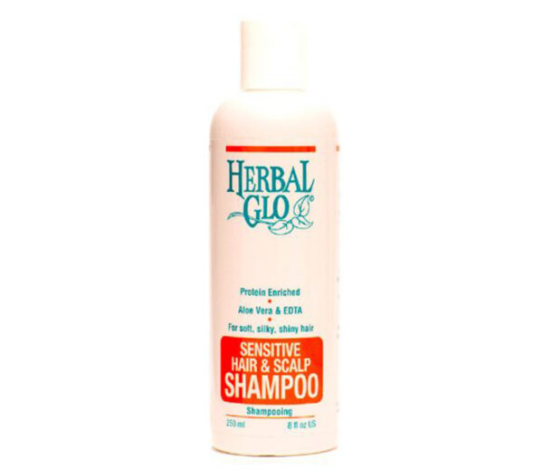 bottle of sensitive scalp shampoo
