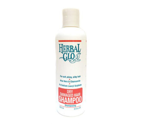 bottle of dry and damaged hair shampoo