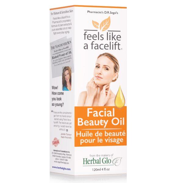 box of feels like a facelift facial beauty oil