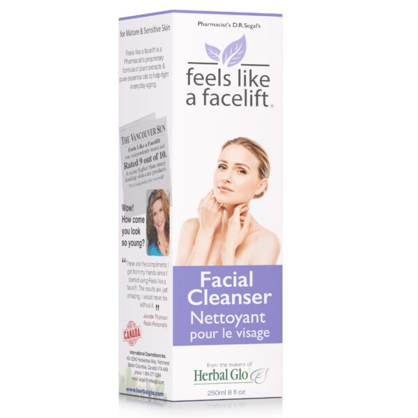 box of feels like a facelift facial cleanser