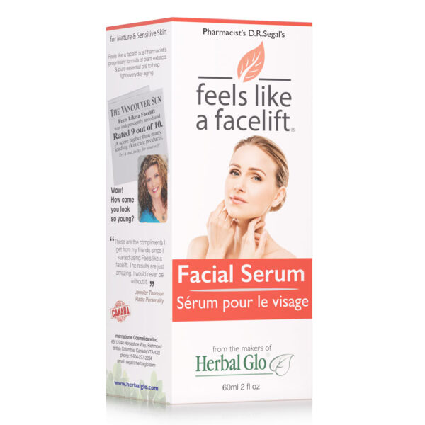 box of feels like a facelift facial serum