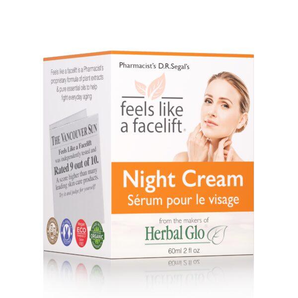 box of feels like a facelift night cream