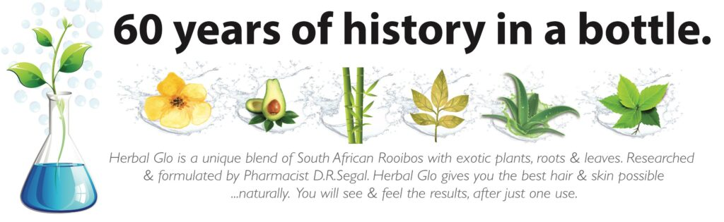 herbal glo history banner