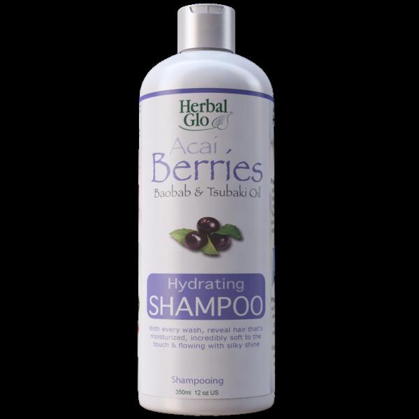 bottle of acai berry hydrating shampoo