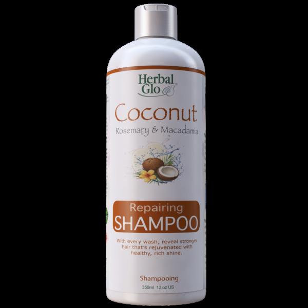 bottle of coconut rosemary macadamia repairing shampoo