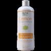 bottle of lemon moringa matcha tea replenishing shampoo