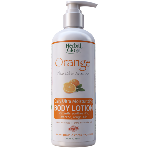 orange with olive oil and avocado body lotion