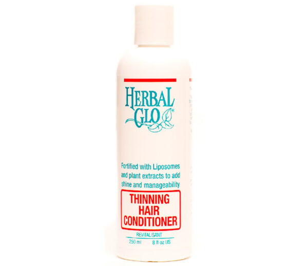 bottle of thinning hair conditioner