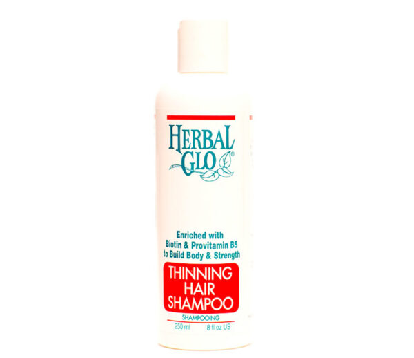 bottle of thinning hair shampoo