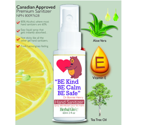 image of a bear with a heart on a hand sanitizer bottle