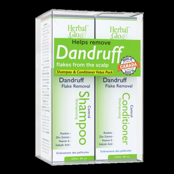 bottle of dandruff conditioner and shampoo