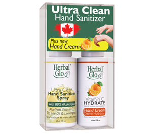 Ultra Clean Hand Sanitizer PLUS Hand Cream Combo Pack - 250 ML